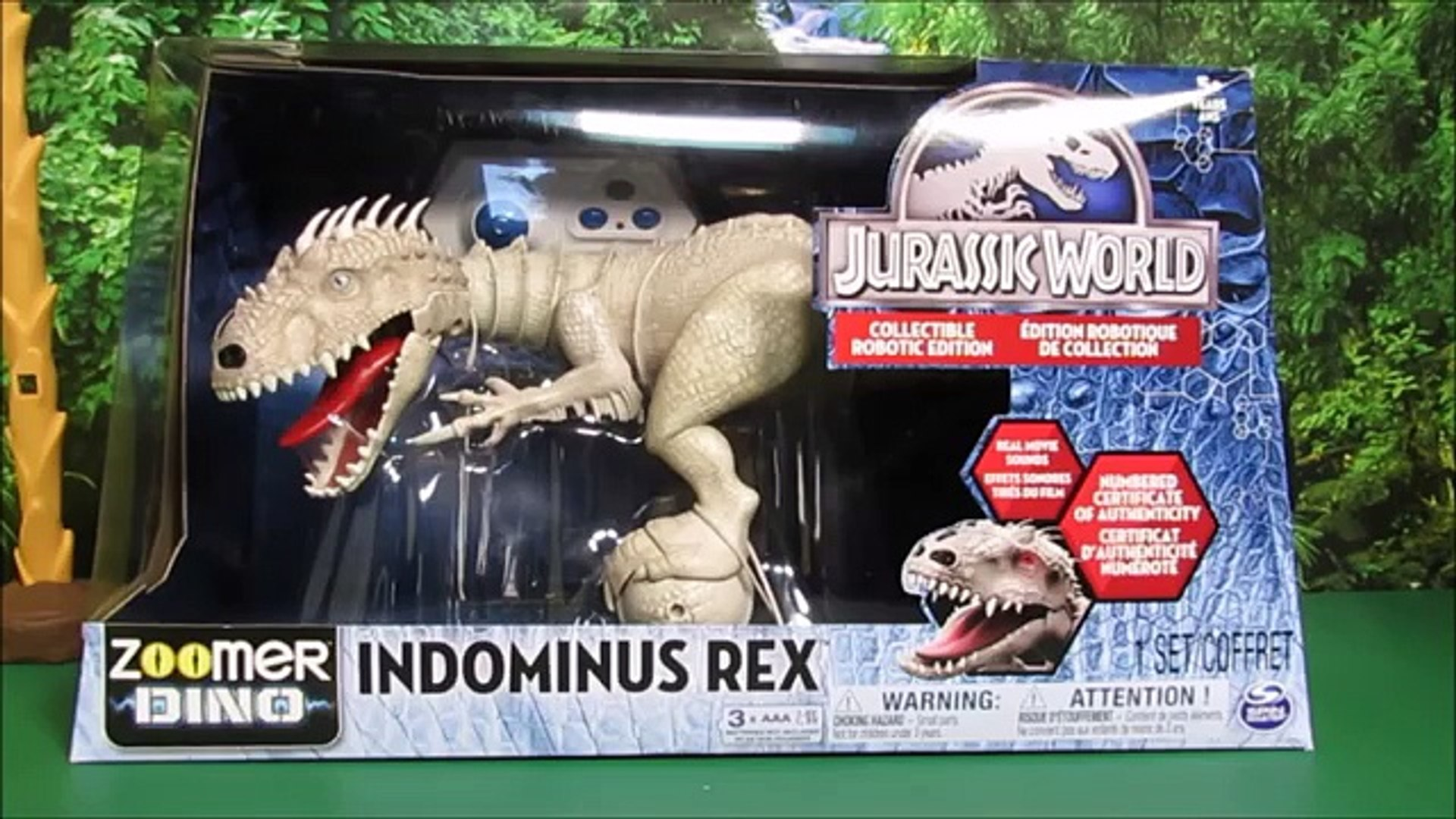 Jurassic World Indominus Rex Zoomer Dino Unboxing, Review By WD Toys