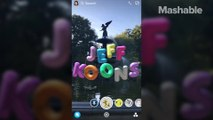 Unlock Jeff Koons' art installations around the world with Snapchat's new AR feature