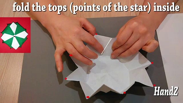 Origami gift box - Maltese Cross box. Gift wrapping. Ideas for Christmas - gift box