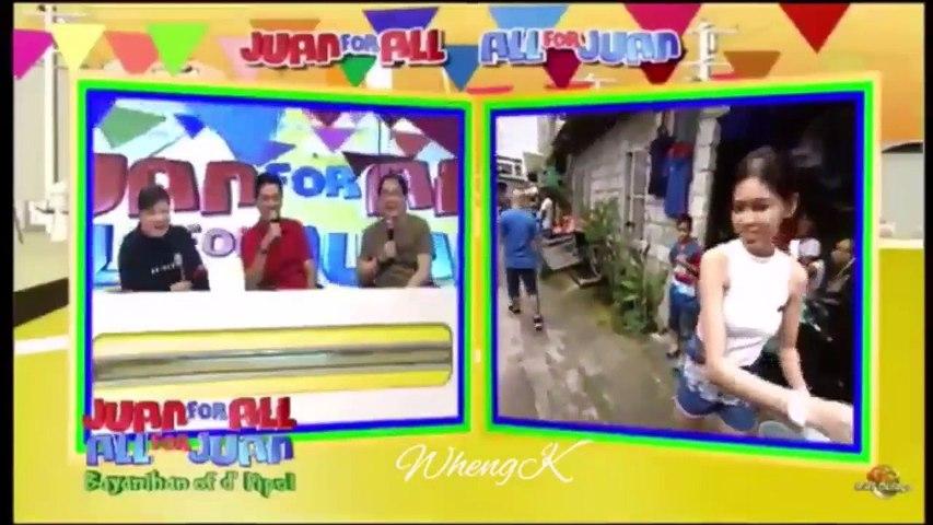 Maine Mendoza doing cartwheels at Sugod Bahay in Eat Bulaga!