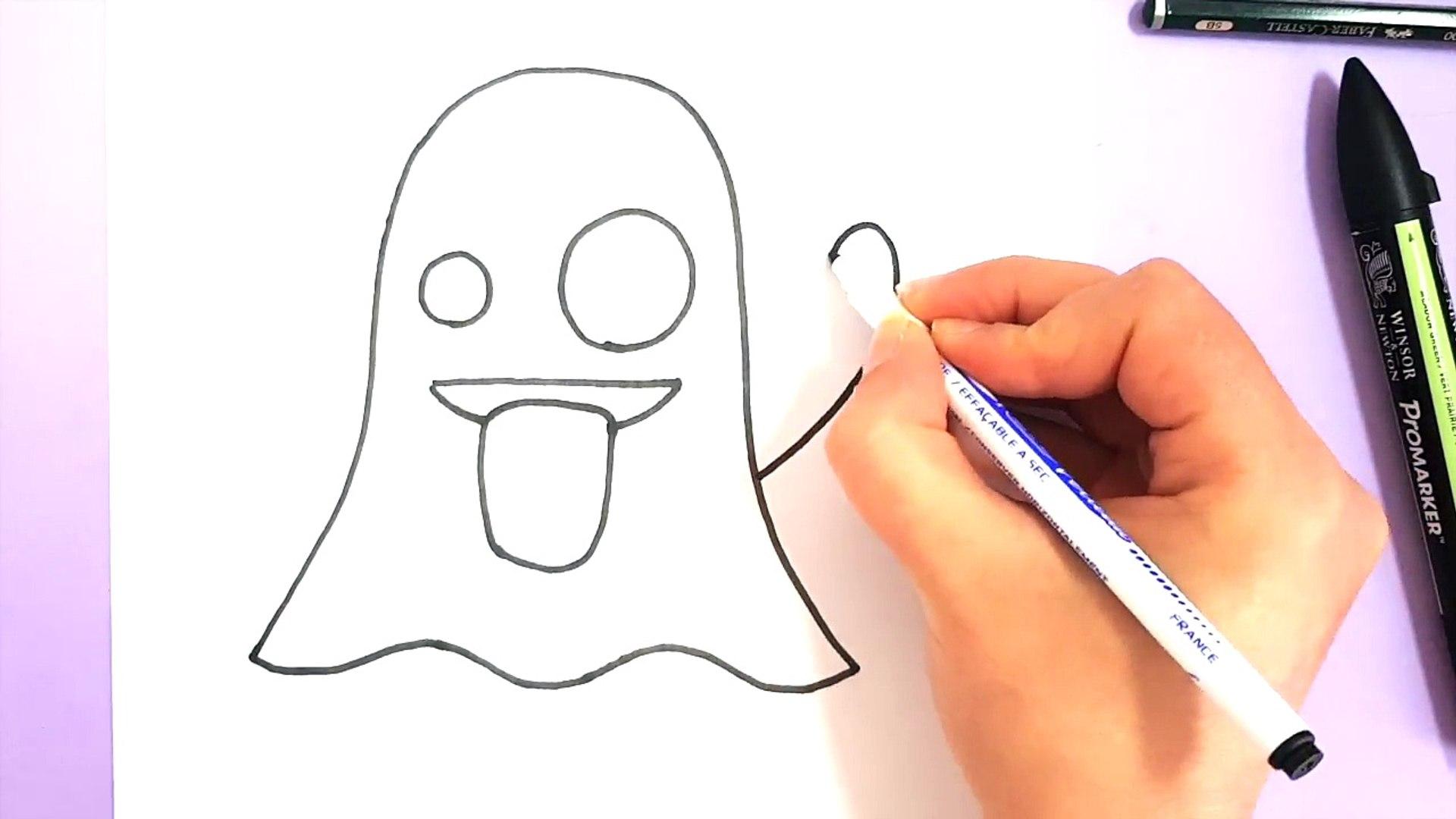 Comment Dessiner Emoji Fantome Snapchat Kbb6xbnoho8 Video