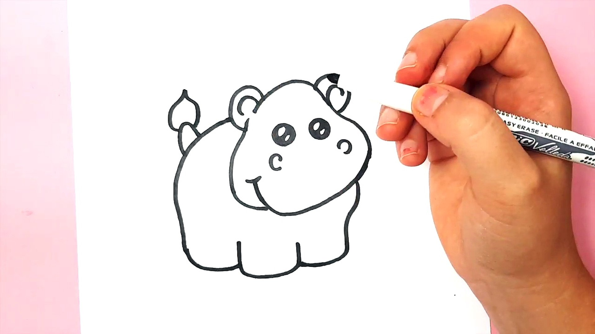 Comment Dessiner Un Hippopotame Kawaii O6dwtwiywui Video Dailymotion