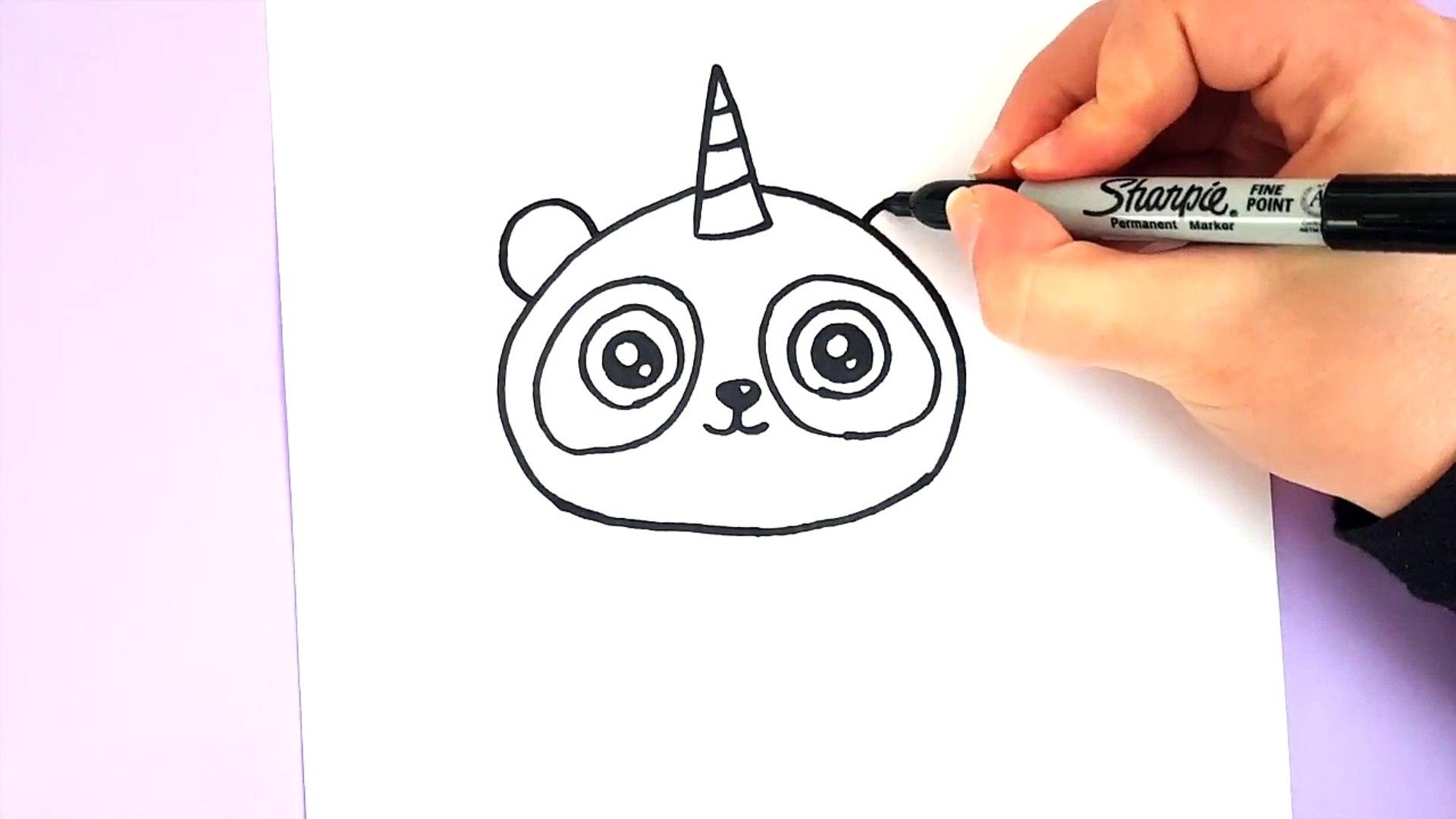 Comment Dessiner Un Pandicorne Kawaii Panda Licorne Smk8nbmupbs