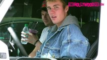 Justin Bieber Has A Heart To Heart Talk With Paparazzi While Out With His Pastor Homies At Earthbar