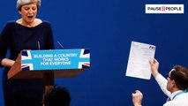 Le discours de Theresa May tourne au cauchemard