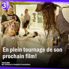 Jack Sparrow offre un trésor de bonheur aux enfants malades.