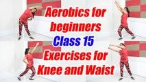 Aerobics for beginners - Class 15 |  Aerobic Workout cum knee exercises | Boldsky