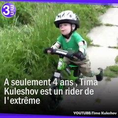 À 4 ans, Tima Kuleshov est un champion de moto en Ukraine !
