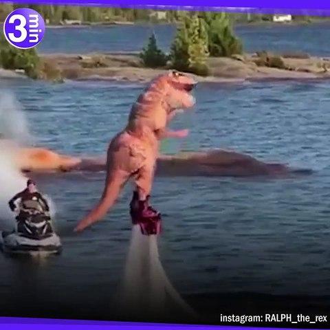 Un T-Rex dans un monde d'humains !