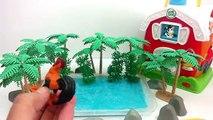 Learn Farm Animals With Toy Animals In Blue Slime/Shape Sorter Barn House/Old MacDonald Nursery Rhym
