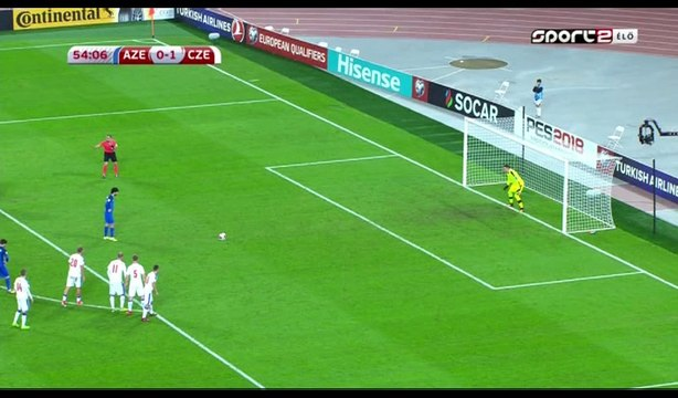Afran Izmailov Goal HD - Azerbaijan 1-1 Czech Republic - 05.10.2017
