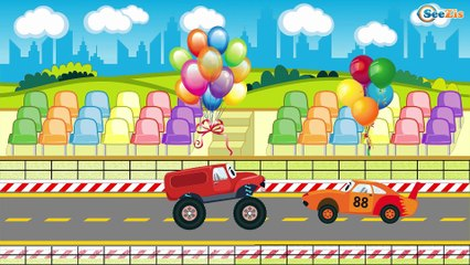 The Red Fire Truck & The Police Car - The Fire | Service & Emergency Vehicles Cartoons for children