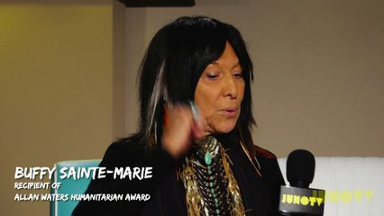Buffy Sainte-Marie Backstage at The 2017 JUNO Awards