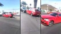 Cette fille détruit la voiture de son ex-copain, et elle n'y va pas de main morte !