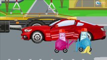 Red Race Cars & Sports Car Crash | Service & Emergency Vehicles Cars & Trucks Cartoon for children