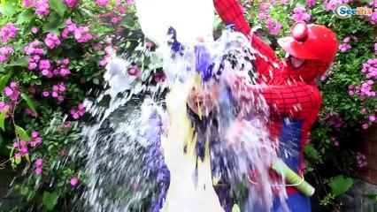 Joker Kidnaps Spiderman Elsa! w/ Spiderbaby, Bad Baby Joker baby, Frozen Elsa