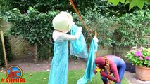 Spiderman in The POOL! w/ Pink Spidergirl vs Spiderman Swimming POOL prank! Bad Baby in Real Life