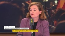 """Référendum en Catalogne """"Un évènement contraire à la constitution espagnole (...) il n'y a pas eu de contrôle démocratique"""" Nathalie Loiseau"""