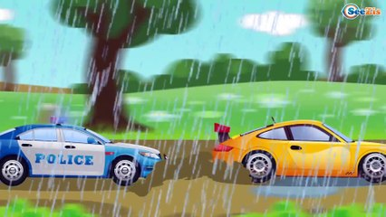 Cars & Trucks Cartoons for children   Police Car with Car Wash Adventures   Kids Cartoon