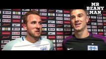 England 1-0 Slovenia - Harry Kane & Joe Hart Post Match Interview - England Qualify For World Cup