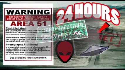 almost died 24 hour overnight in area 51 gone wrong overnight challenge in area 51 guard chase