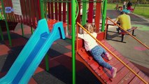 Playground Park Fun Place for Kids to Play Outside Play Center Area W Slides, Swings