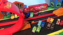 Pixar Cars Riplash Racer Re Match with Lightning McQueen, Funny Car Mater, and Francesco Bernoulli
