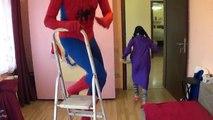 Black Spiderman vs Scream FUNNY PRANK Compilation /w Spidey Video for Kids Superheroes IRL!