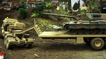 SPINNING WHEELS*TANKS STUCK IN DIRT!! STUNNING RC MODEL TANK, RC MILITARY VEHICLES IN ACTION