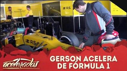 Gerson acelera de Fórmula 1