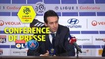 Conférence de presse Olympique Lyonnais - Paris Saint-Germain (2-1) : Bruno GENESIO (OL) - Unai EMERY (PARIS) / 2017-18
