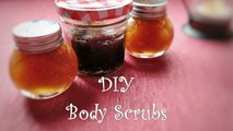 3 DIY All Natural Body scrubs | Homemade body and facial scrubs | DIY Sugar scrubs for exfoliating