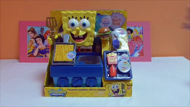 Little Kelly - Toys & Play Doh  - Spongebob Krabby Patty Maker ( Bikini Bottom, Patrick, Sponge
