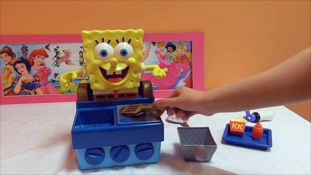 Little Kelly - Toys & Play Doh  - Spongebob Krabby Patty Maker ( Bikini Bottom, Patrick, Spongebo