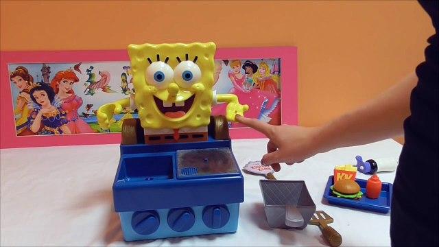 Little Kelly - Toys & Play Doh  - Spongebob Krabby Patty Maker ( Bikini Bottom, Patrick, Spongebob