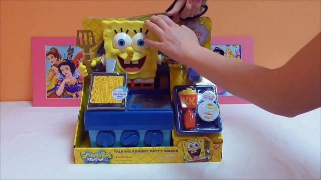 Little Kelly - Toys & Play Doh  - Spongebob Krabby Patty Maker ( Bikini Bottom, Patrick, Spongebob)-