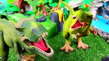 School Bus Trip to Playmobil Dinosaur Zoo - Learn Prehistoric Sea Animals Names Toys for Kids