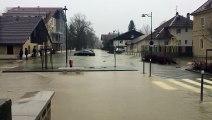 Haut-Doubs : deuxième vague d'inondations à Arçon près de Pontarlier