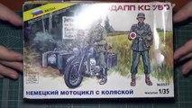 Сборка немецкого мотоцикла Zündapp KS 750. Звезда.1:35. Диорама с V3000S. Часть 6