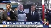 Usine Toyota d'Onnaing: Macron annonce la création de 800 postes dont 700 CDI