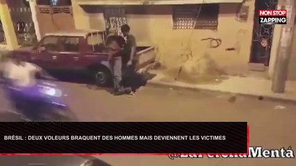 Brésil : Deux voleurs braquent des hommes, mais deviennent les victimes (Vidéo)