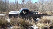 COMPLETELY ROLLS!! GIANT GMC 4x4 MUD TRUCKS on TRACTOR TIRES at SABINE RIVER RATS!