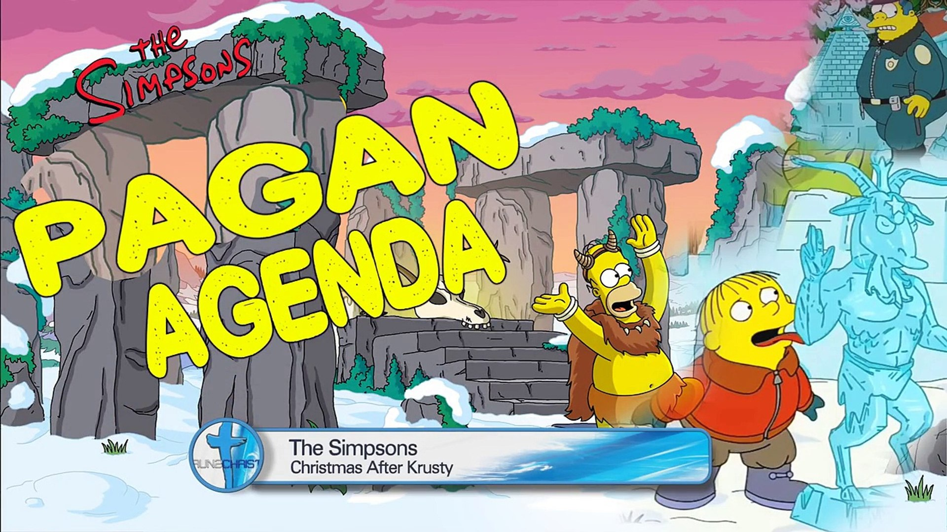 The Simpsons Pagan Agenda Exposed 2016 Christmas Episode Run2christ