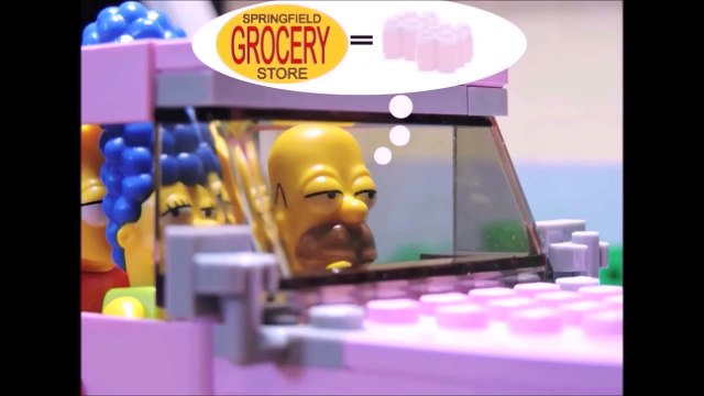 """""""Simpsons at shopping"""" Lego Simpsons animation"""