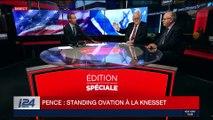 Mike Pence en Israël: standing ovation à la Knesset