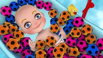 Learn Colors With BABY BATH for Children - Colors pool Balls and Soccer Balls Su