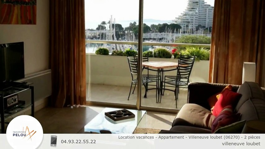 Location vacances - Appartement - Villeneuve loubet (06270) - 2 pièces