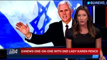 PERSPECTIVES | i24NEWS one-on-one with 2nd lady Karen Pence | Monday, January 22nd 2018