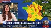 Crues et inondations: le Jura et le Doubs ont été placés en alerte rouge