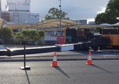 Crane Collapses Outside Shopping Centre in Mitchelton